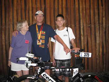 Ironman Kona Finish Ron Family