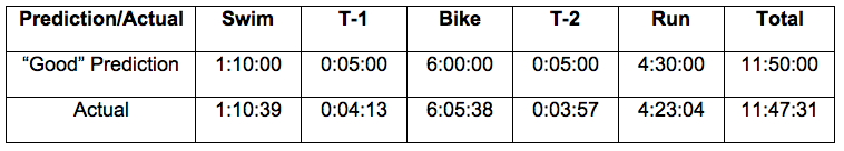 Ironman Kona race projection