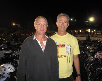 Ron and Mark at Ironman Transition Area
